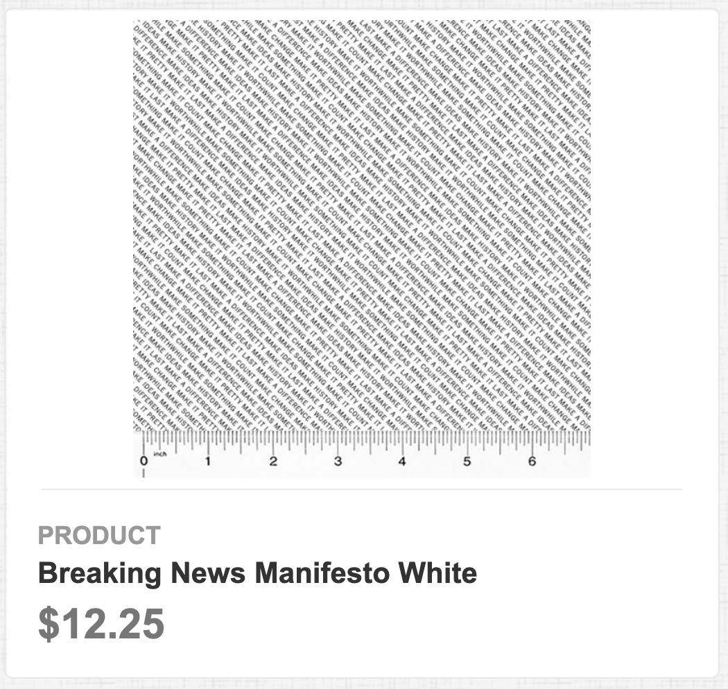 Breaking News Manifesto White