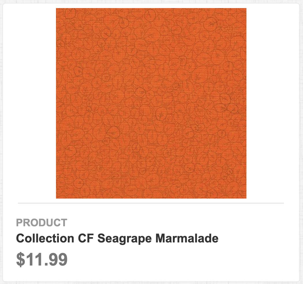 Collection CF Seagrape Marmalade