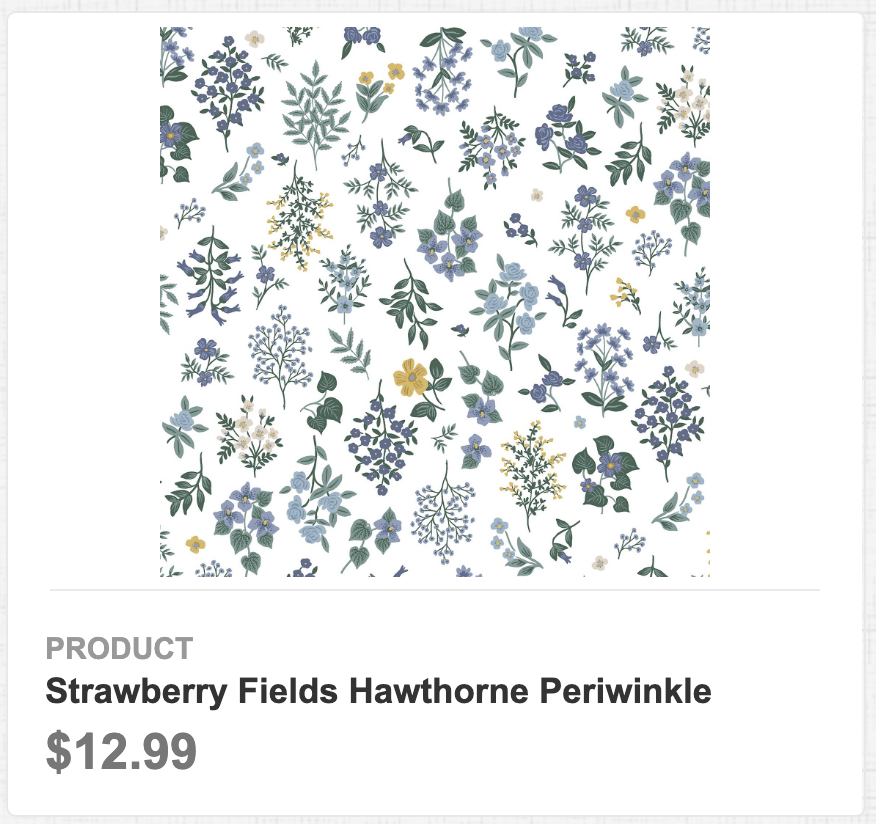 Strawberry Fields Hawthorne Periwinkle