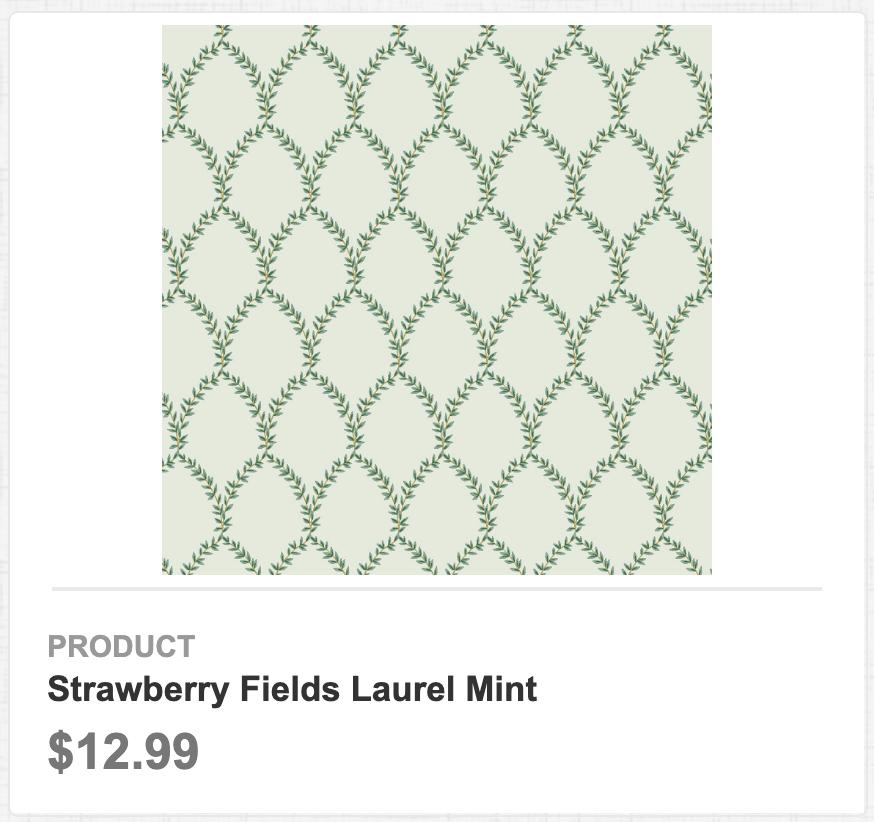 Strawberry Fields Laurel Mint