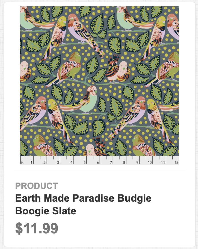 Earth Made Paradise Budgie Boogie Slate