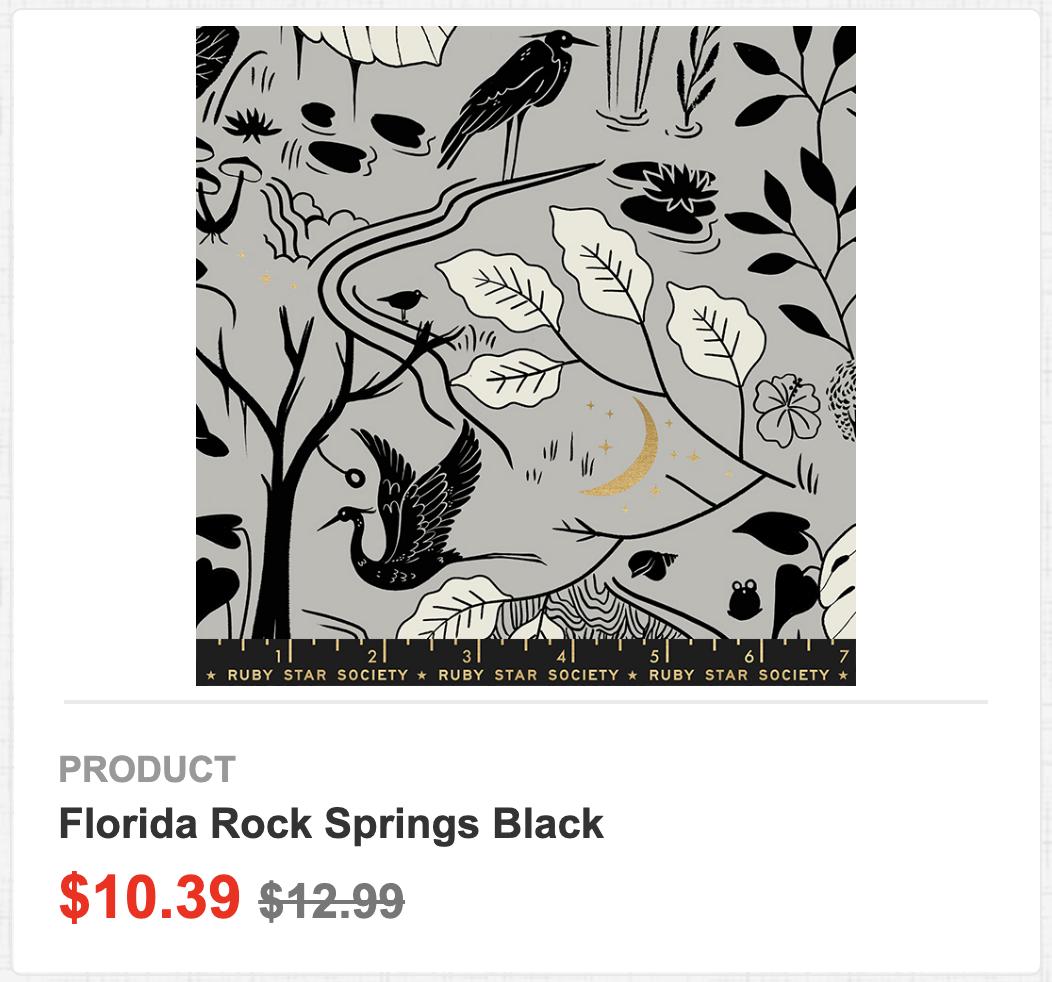 Florida Rock Springs Black