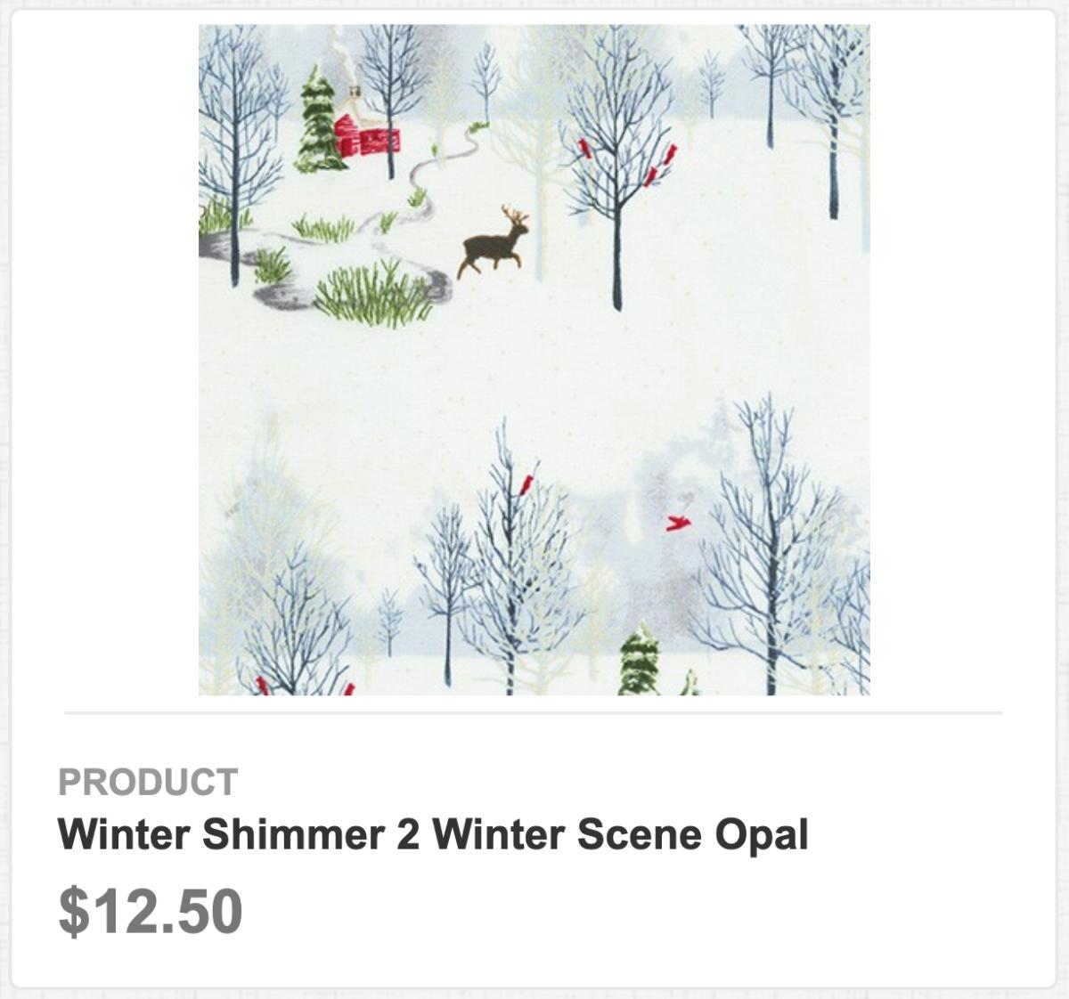 Winter Shimmer 2 Winter Scene Opal