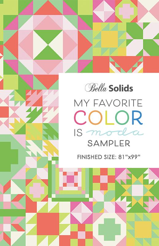My Favorite Color is Moda Sampler Pattern