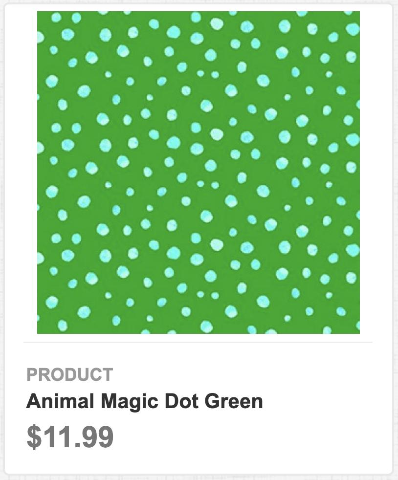 Animal Magic Dot Green