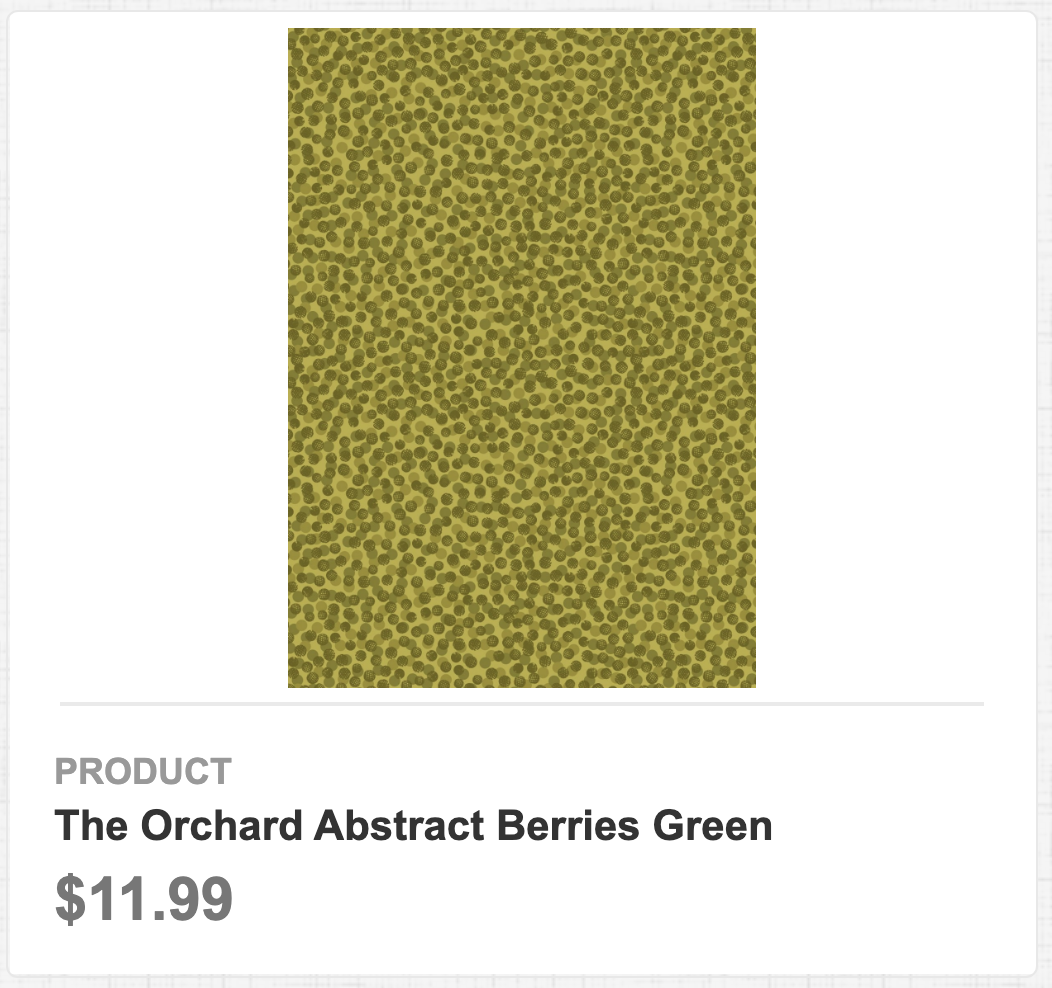 The Orchard Abstract Berries Green