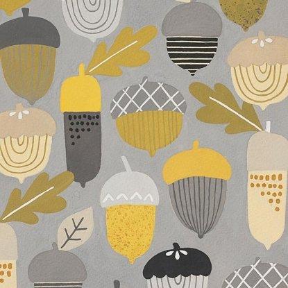 Autumn Acorn Grey/Gold