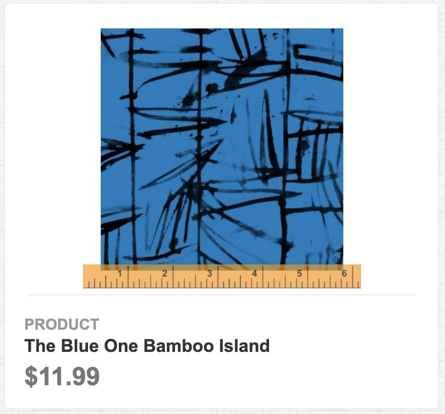 The Blue One Bamboo Island
