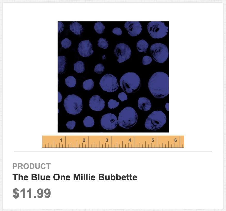 The Blue One Millie Bubbette