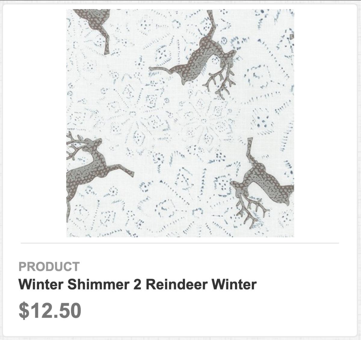 Winter Shimmer 2 Reindeer Winter