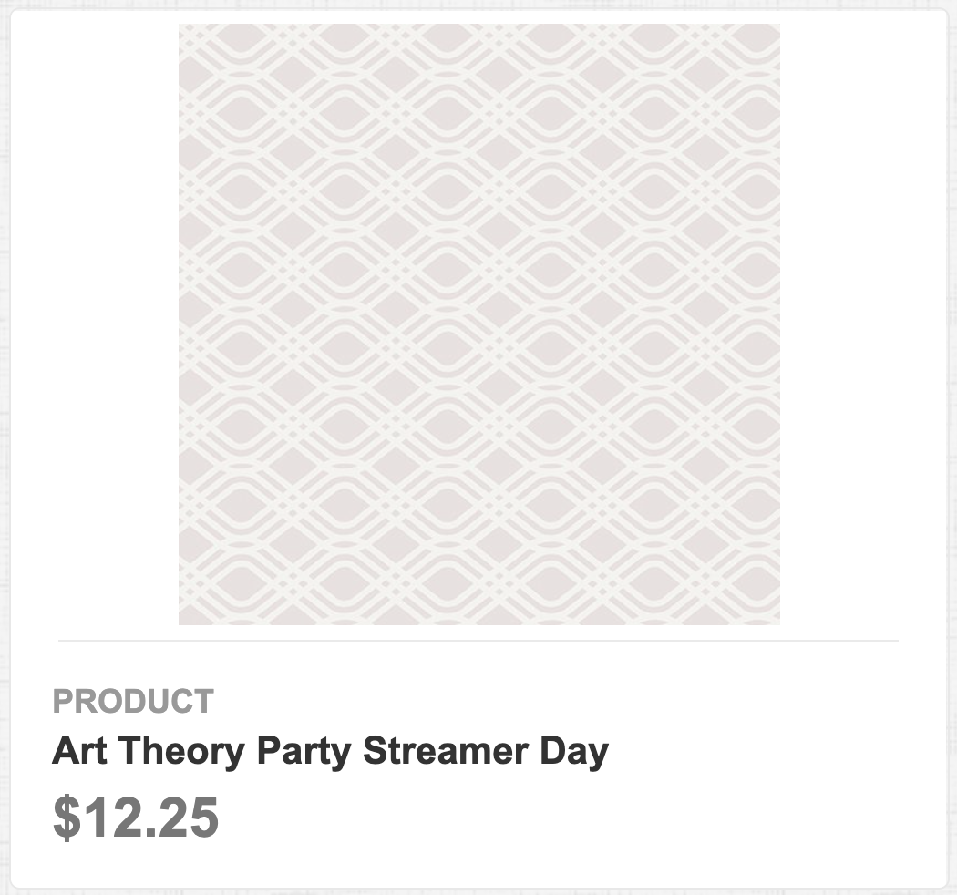 Art Theory Party Streamer Day