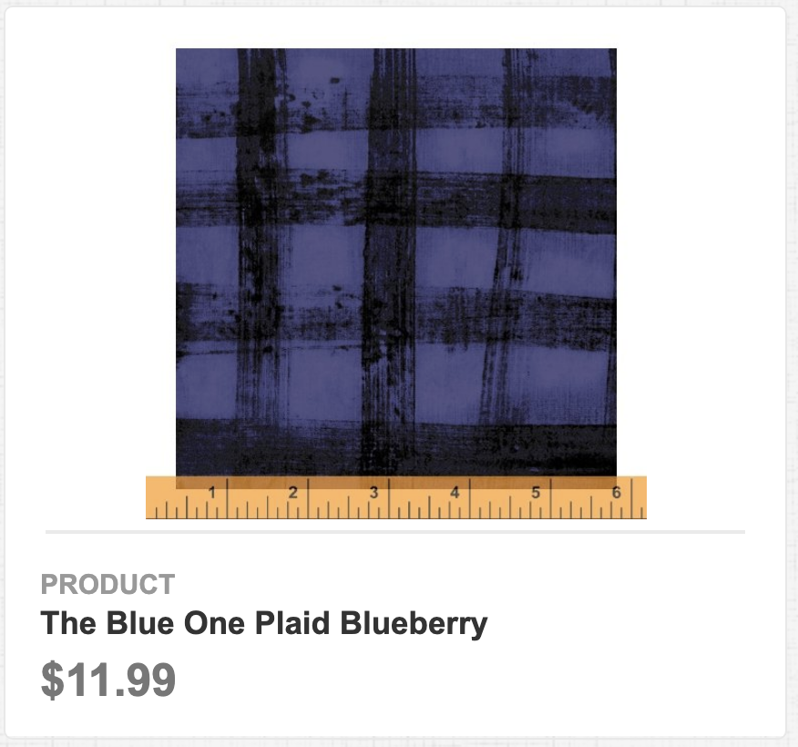 The Blue One Plaid Blueberry