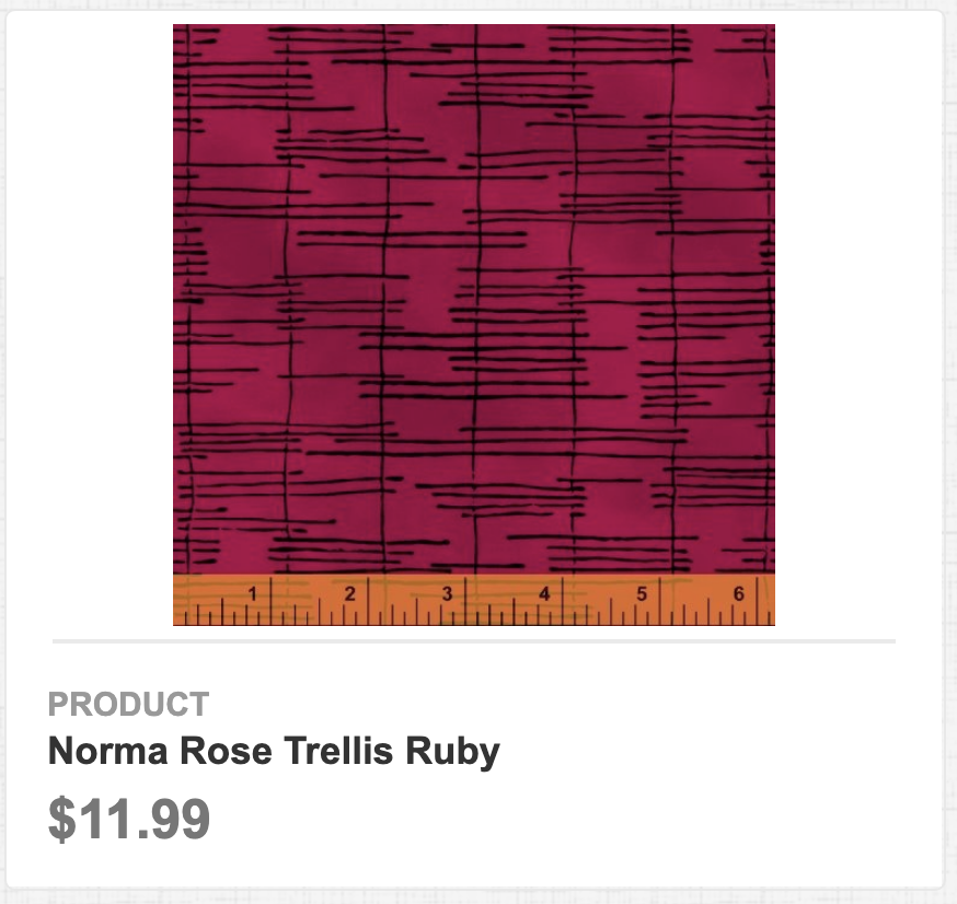 Norma Rose Trellis Ruby