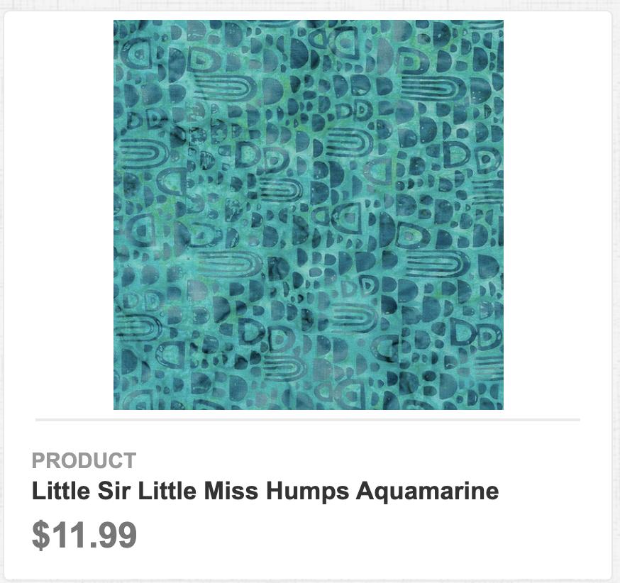 Little Sir Little Miss Humps Aquamarine