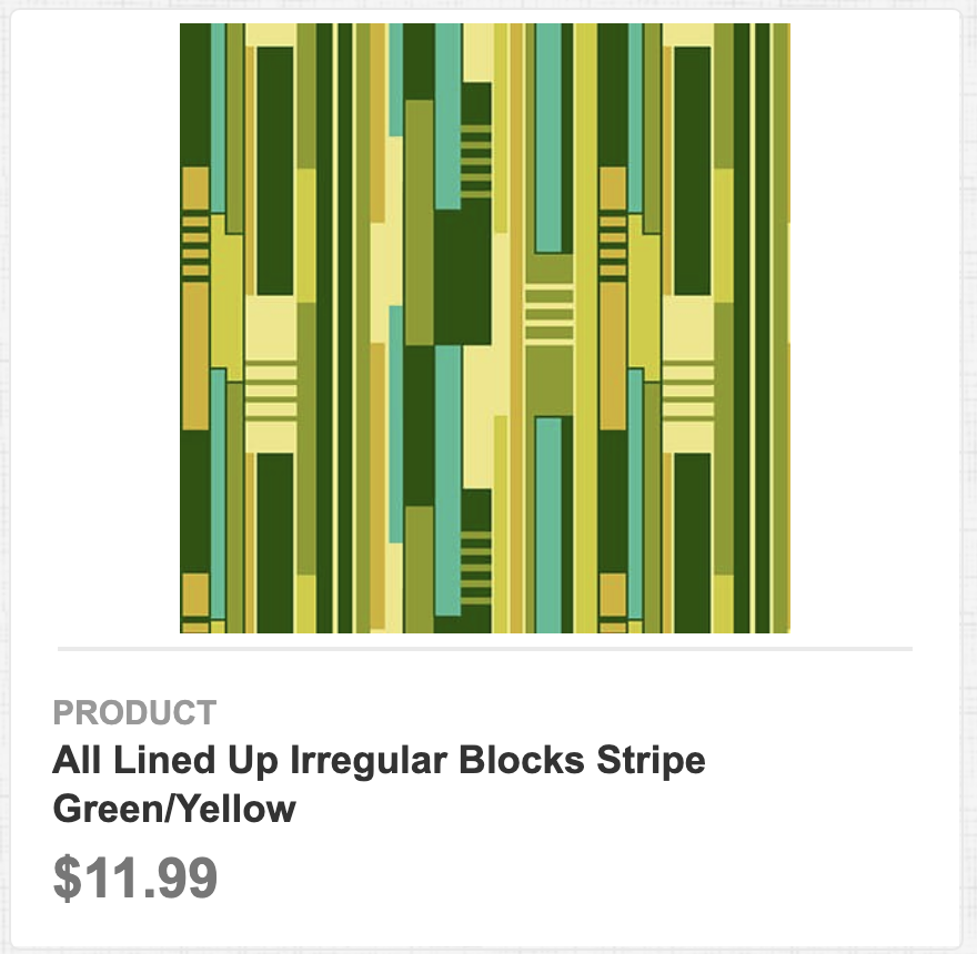 All Lined Up Irregular Blocks Stripe Green/Yellow