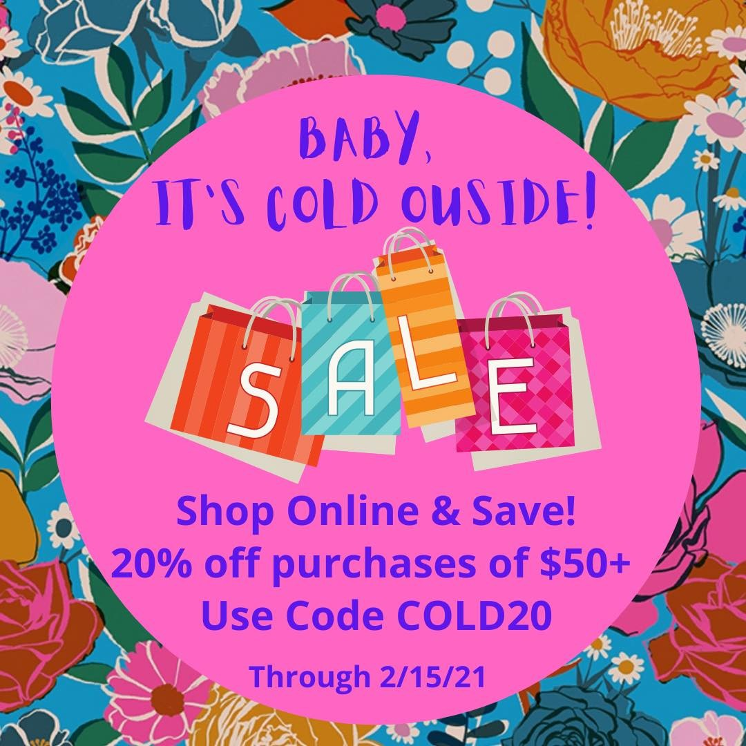 Shop online & save! 20% off purchases of $50+. Use code COLD20 at checkout through 2/15/21