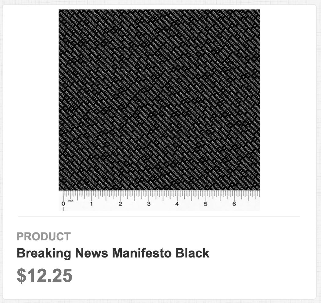 Breaking News Manifesto Black