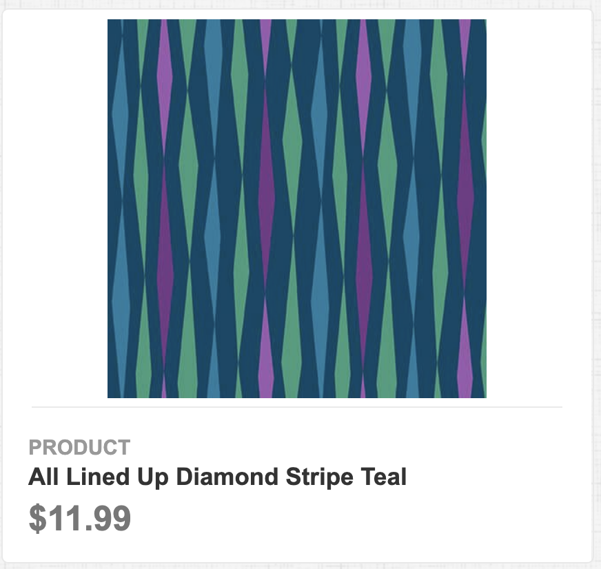 All Lined Up Diamond Stripe Teal