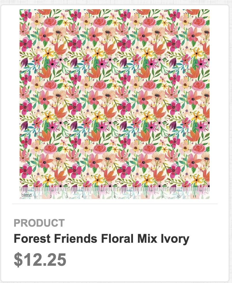 Forest Friends Floral Mix Ivory