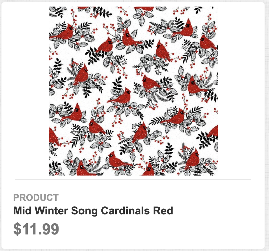 Mid Winter Song Cardinals Red