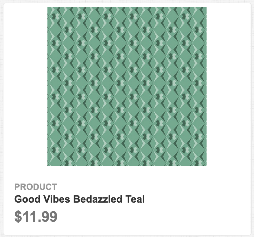 Good Vibes Bedazzled Teal