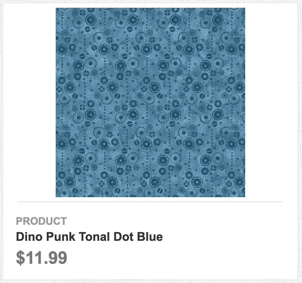 Dino Punk Tonal Dot Blue