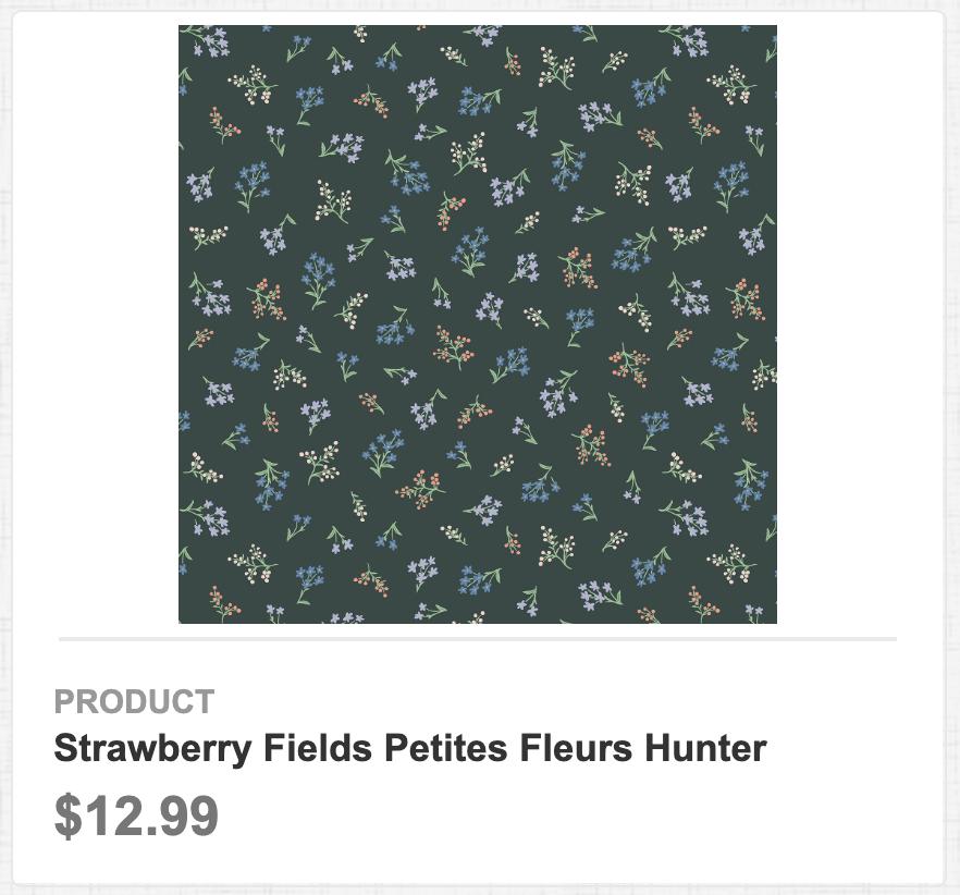 Strawberry Fields Petites Fleurs Hunter