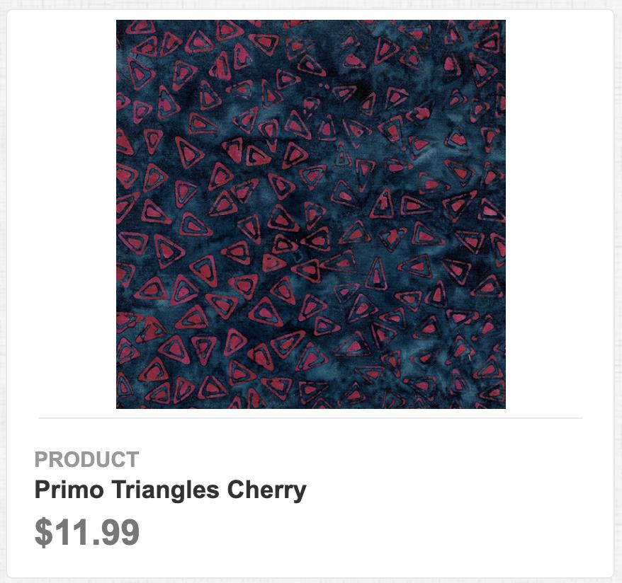 Primo Triangles Cherry