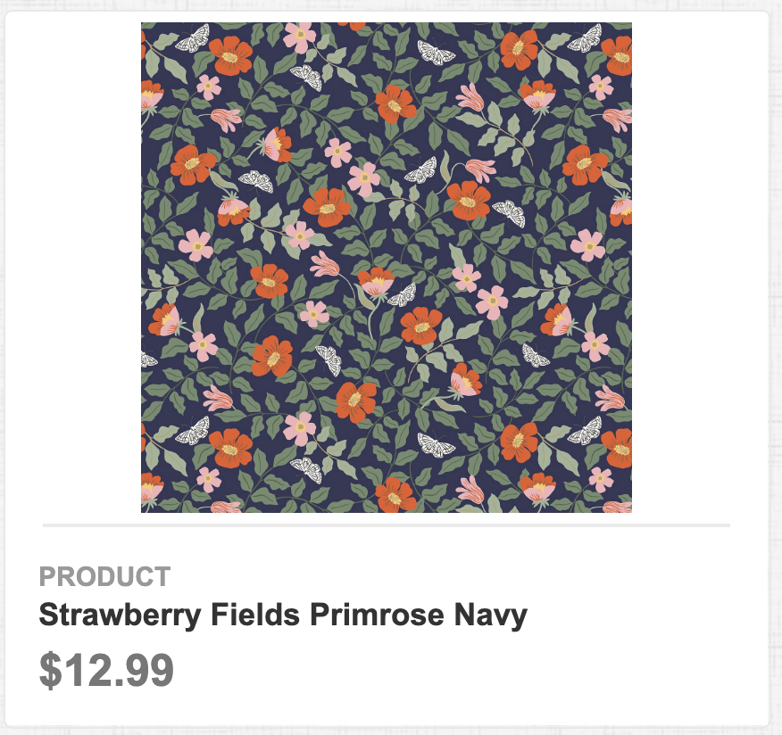 Strawberry Fields Primrose Navy