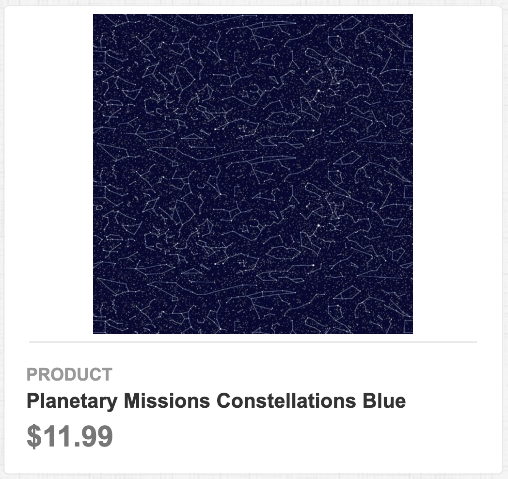 Planetary Missions Constellations Blue