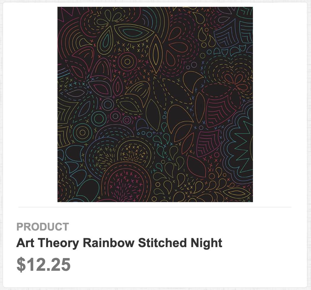 Art Theory Rainbow Stitched Night