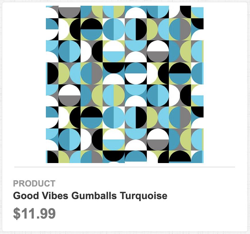 Good Vibes Gumballs Turquoise