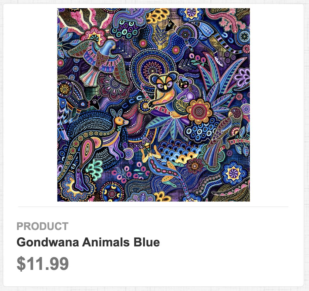 Gondwana Animals Blue