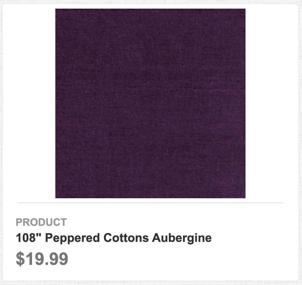 """108"""" Peppered Cottons Aubergine"""