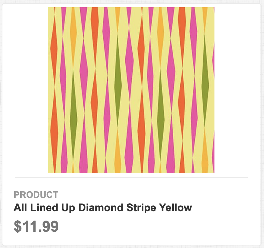 All Lined Up Diamond Stripe Yellow