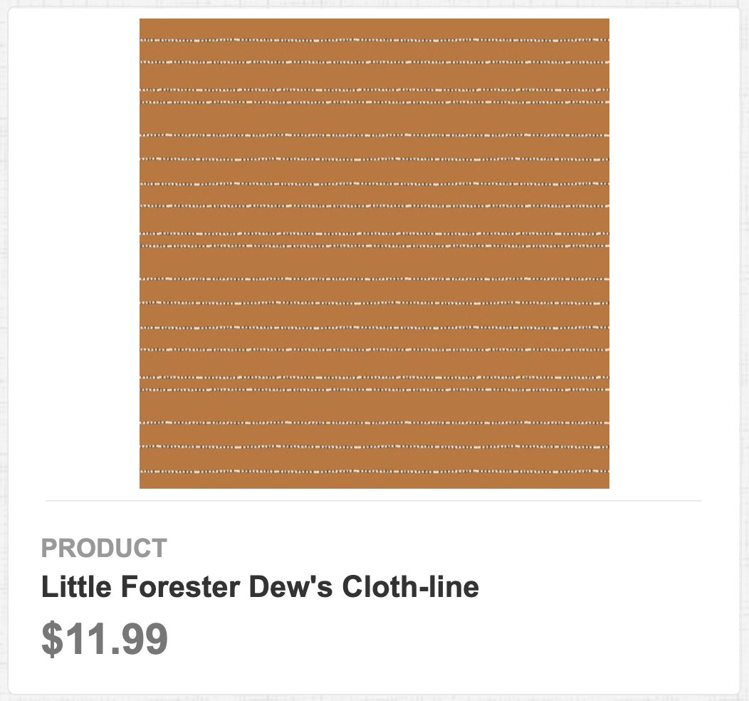 Little Forester Dew's Cloth-line