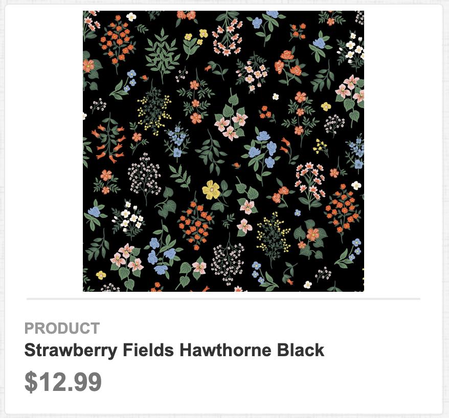 Strawberry Fields Hawthorne Black