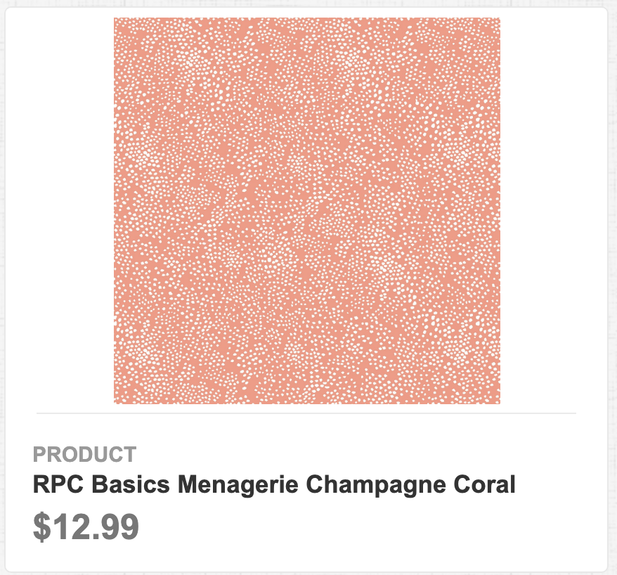 RPC Basics Menagerie Champagne Coral