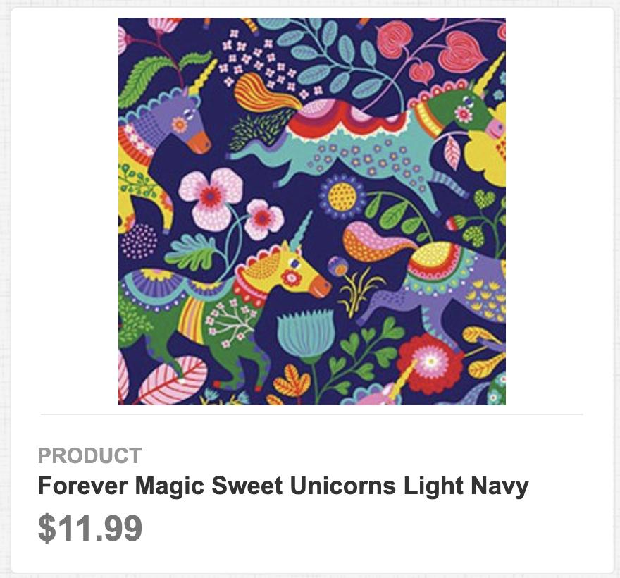 Forever Magic Sweet Unicorns Light Navy