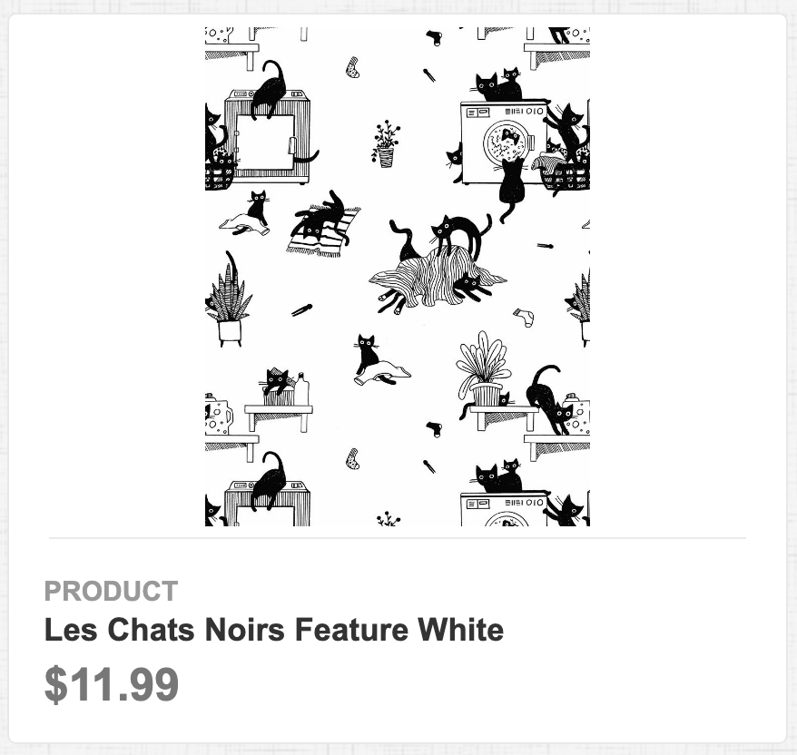 Les Chats Noirs Feature White
