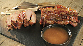 Bourbon Brown Sugar Smoked Pork Loin