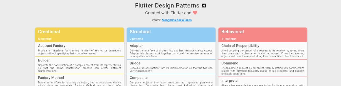 Image Outil Flutter Design Patterns