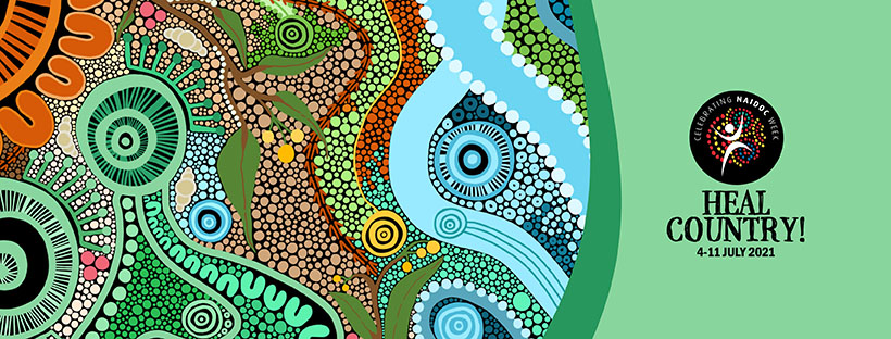 Heal Country Banner for NAIDOC Week