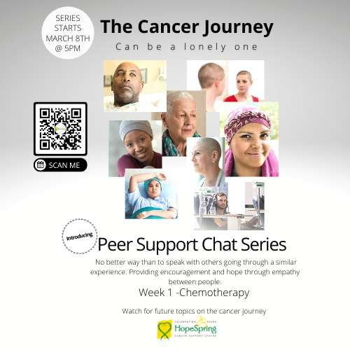 Peer Support Chat Series-ChemoTherapy, starts March 8th @ 5pm