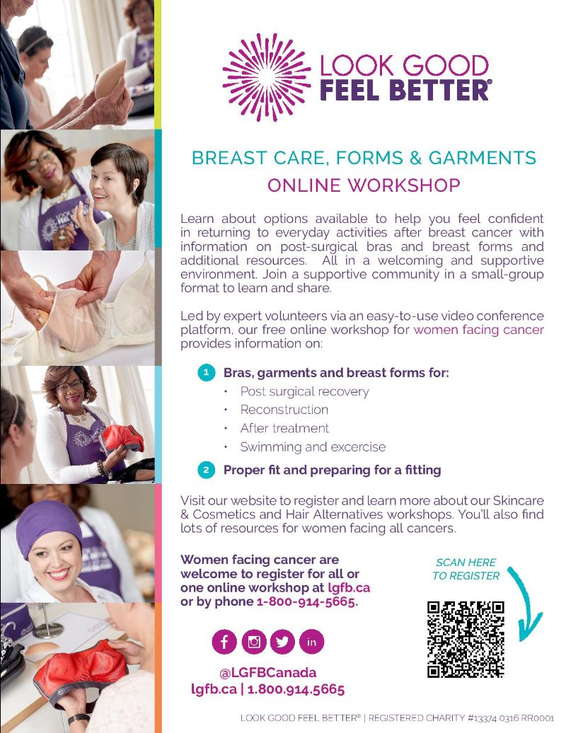 Look Good Feel Better Breast Care, Forms & Garments