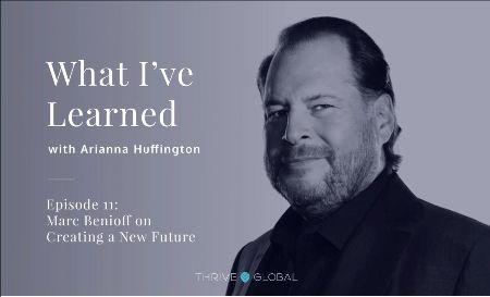Meditation and business_Marc Benioff and Adrianna Huffington