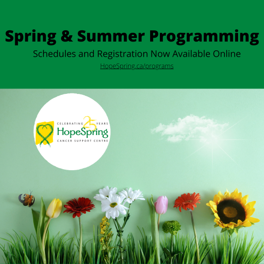 Spring & Summer Programming, Schedules and Registration now available online