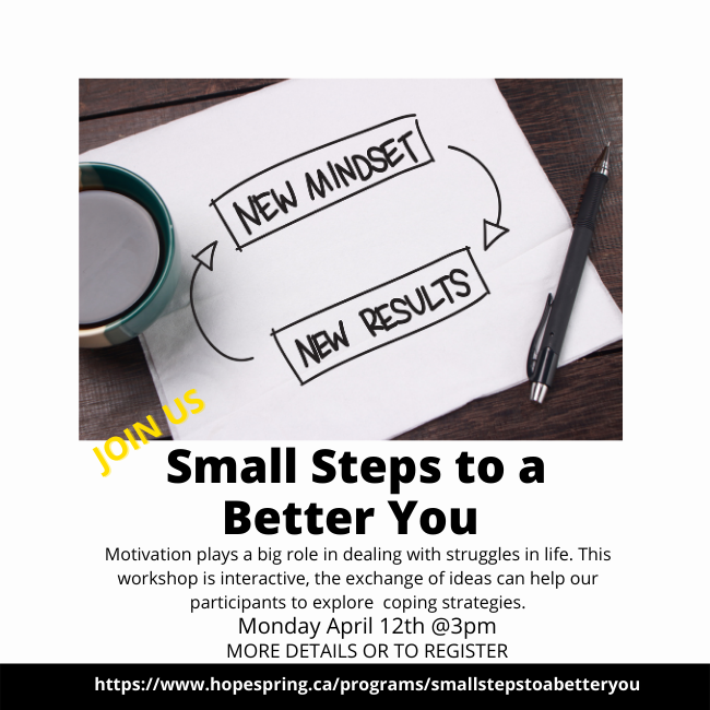 Small Steps to a Better You Workshop