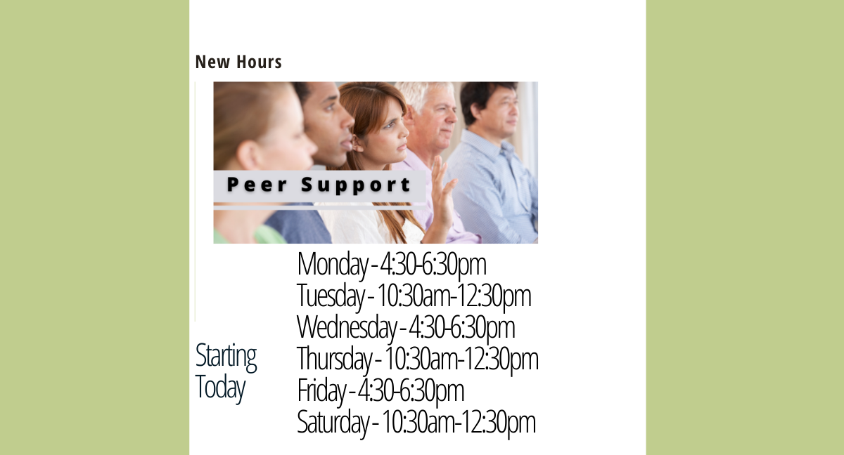 Peer Support Hours Update