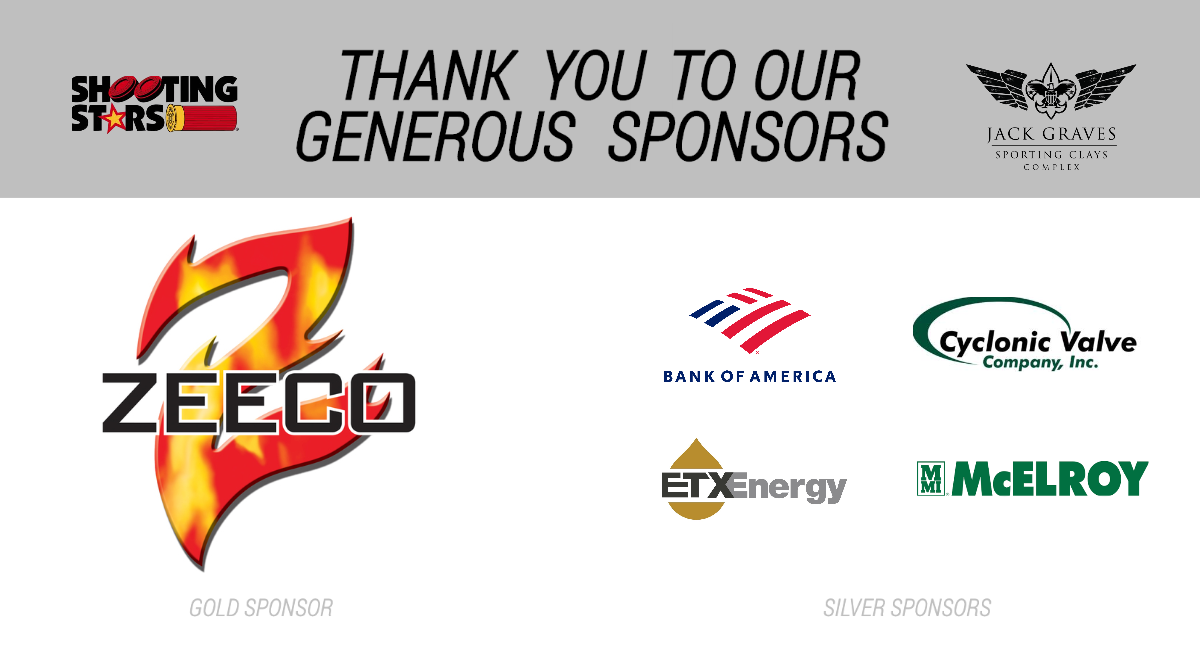 Thank you to our generous sponsors: Zeeco (Gold sponsor), Bank of America, Cyclonic Valve Company, Inc., EXT Energy, McElroy Manufacturing (Silver Sponsors)